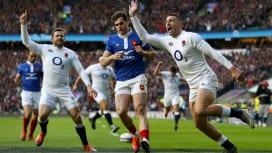 イングランドがフランスとのW杯前哨戦に完勝 キック多用でトライ量産