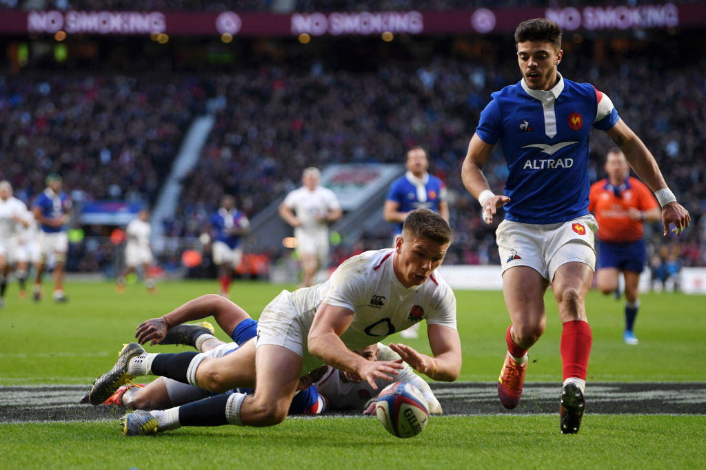 イングランド、6トライの猛攻でフランスに大勝。2試合連続ボーナスポイント獲得で単独首位に。
