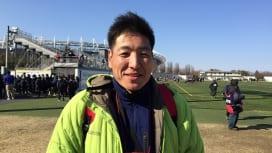 広島県勢としてサントリーカップ初出場。庄原ワイルドボアーズの岸源己監督。
