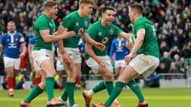 アイルランドがフランスに快勝 欧州連覇へ望みつなぎ首位ウェールズとの最終戦へ