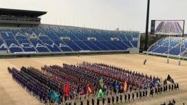 ラグビーの高校選抜大会が開幕。ワールドカップスタジアムで開会式、開幕戦。