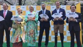 豪州が「AUS+RALLY」キャンペーン発表。ワラビーズのチェイカHCも出席