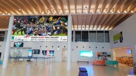 富士山静岡空港に「キヤノンラグビーウォールギャラリー」を設置