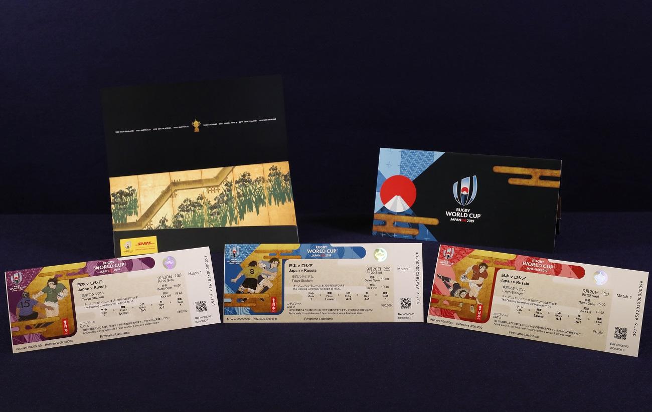 伝統と革新を感じさせる和のデザイン! ラグビーW杯日本大会のチケットデザイン決定