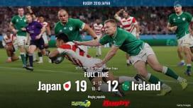 【ラグビーW杯ハイライト動画】 ジャパン、魂の勝利。アイルランドにタックルの雨降らす。