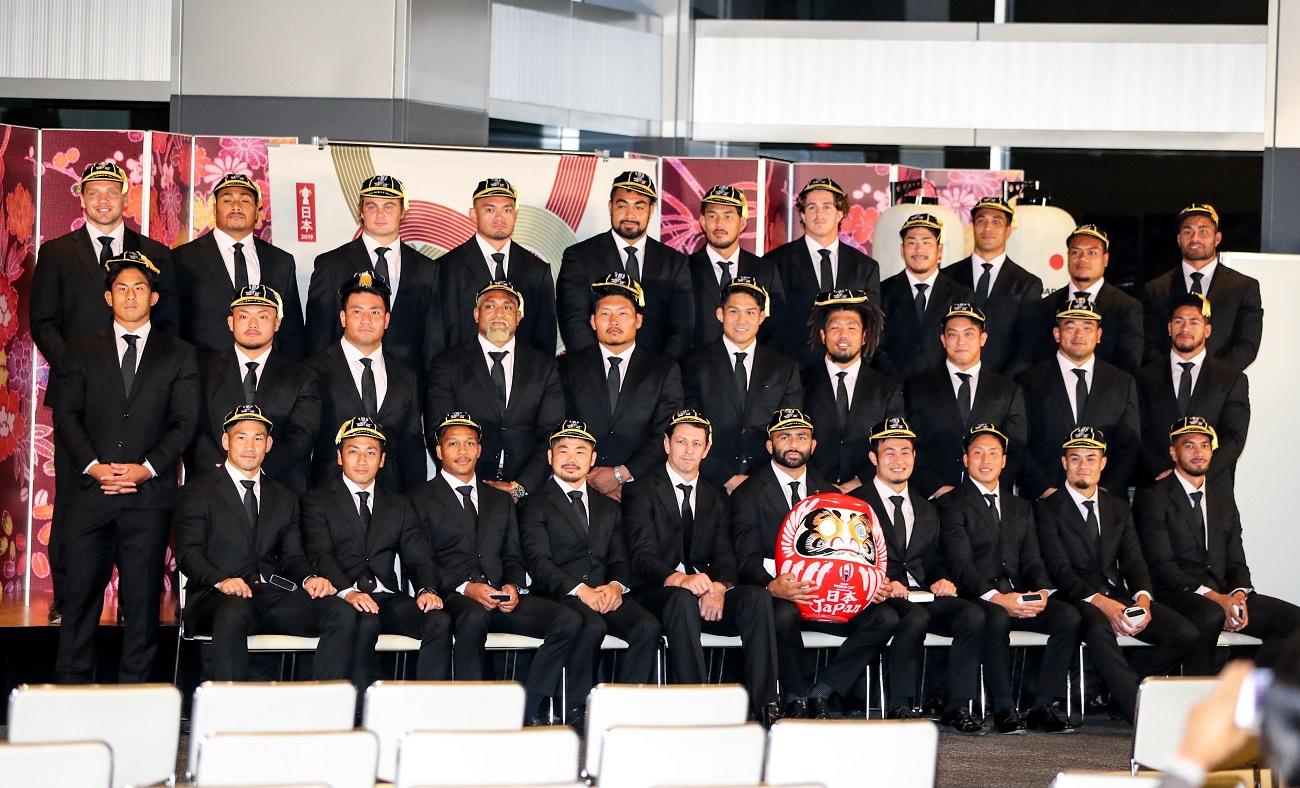 歓迎セレモニーで日本代表リーチ主将が決意表明 「証明したい。僕たちが強いということを」