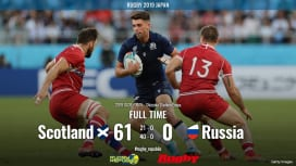 【ラグビーW杯 ハイライト動画】スコットランド、ミッション完遂。ロシア倒して勝ち点5