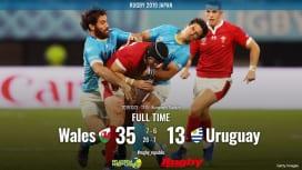 【ラグビーW杯ハイライト動画】ウェールズがトップ通過。ウルグアイの奮闘、スタジアムを揺する。