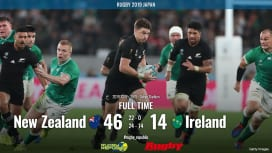 【ラグビーW杯ハイライト動画】王者オールブラックスが圧勝。アイルランドはまたし..