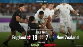 【ラグビーW杯ハイライト動画】ニュージランド3連覇ならず。イングランドが完勝でファイナル…