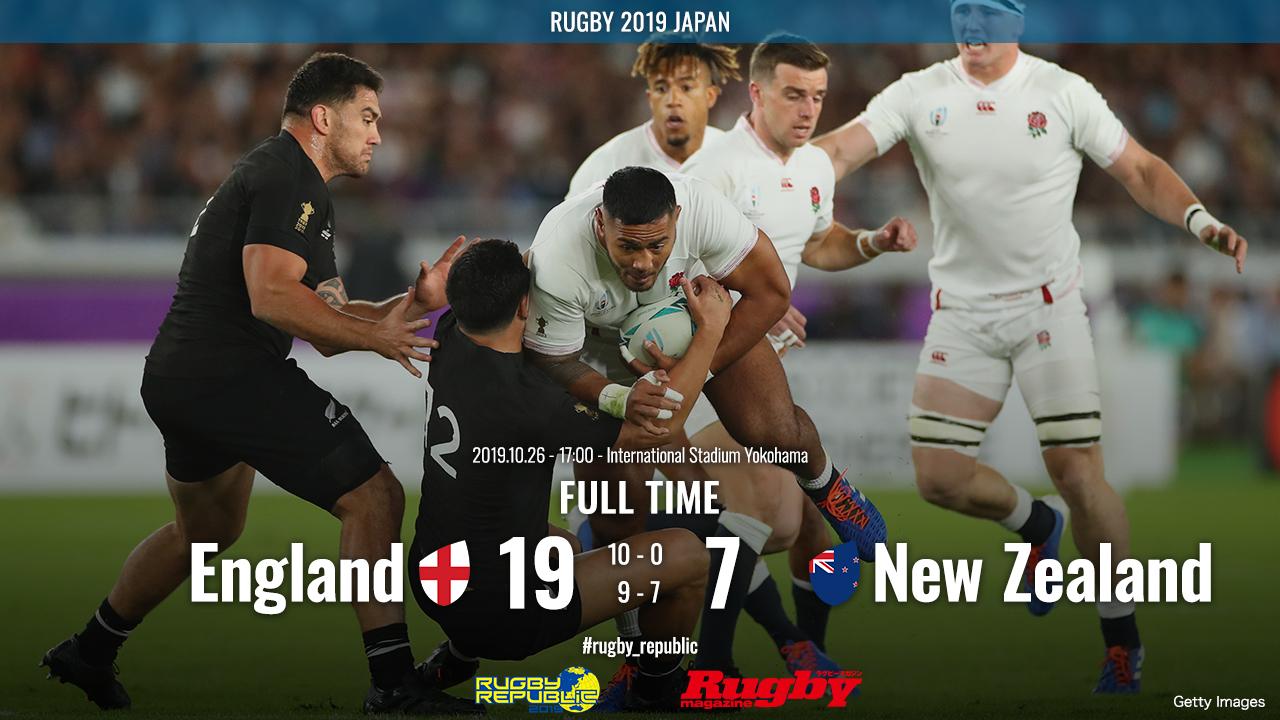 【ラグビーW杯ハイライト動画】ニュージランド3連覇ならず。イングランドが完勝でファイナルへ