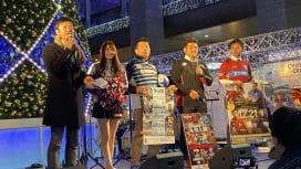 クリスマスイベント会場に3人のラガーマン。博多、天神で合同PR