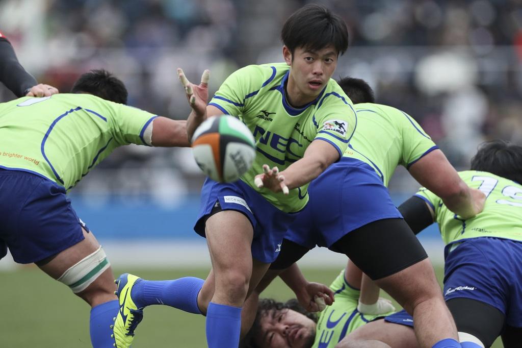 NECグリーンロケッツ浮上への光 新人ハーフ団・吉川浩貴&金井大雪