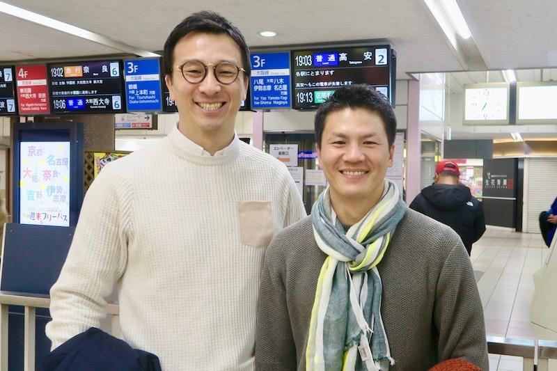 【ラグリパWest】大西先生、お疲れさまでした。 平田政喜&橋本俊治(京都産業大OB)