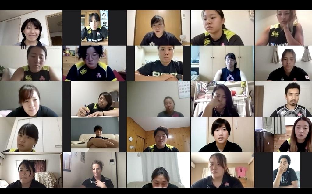 「アクティブかつポジティブに」 W杯見据える女子15人制選手たちがオンラインキャンプ実施