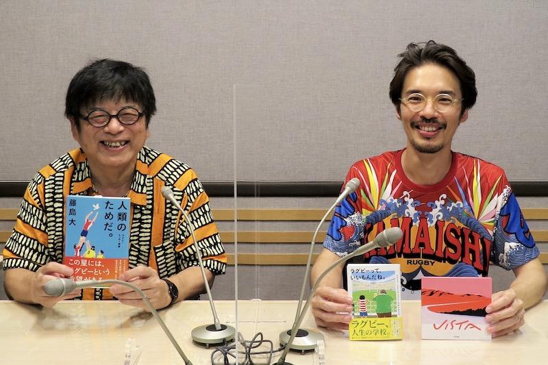 8月3日の「藤島大の楕円球にみる夢」には『toconoma』のギタリスト、石橋光太郎さん登場。