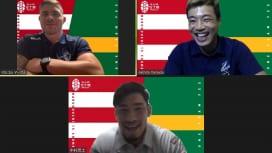 中村亮土、日本代表が8強以上へ行くには「選手層」が鍵。W杯王者マルコム・マークスと対談。