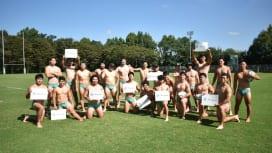 NECグリーンロケッツ、前立腺がんの啓発活動「ブルークローバー・キャンペーン」に参加