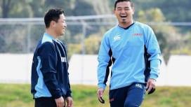 2015ワールドカップで歴史を変えた元日本代表レジェンドのツーショット