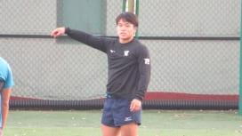 明大の石田吉平は「罠みたいなの」を仕掛ける。1月2日に大学選手権準決勝