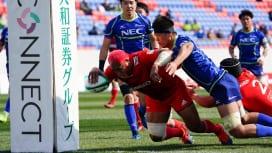 王者、神戸製鋼、NECに競り勝ち白星発進