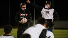 イーグルスアカデミーが体験会。OBの小野澤、菊谷両コーチがプログラムを提供。