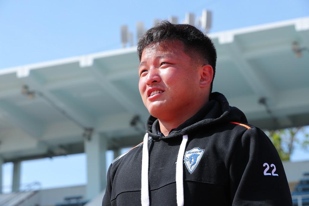クボタ岡山仙治が目指すのは、身長168センチの「ブレイクダウンマスター」。