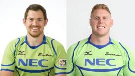 NECグリーンロケッツ 元イングランド代表グッドと豪州出身のジェフリーズが退団