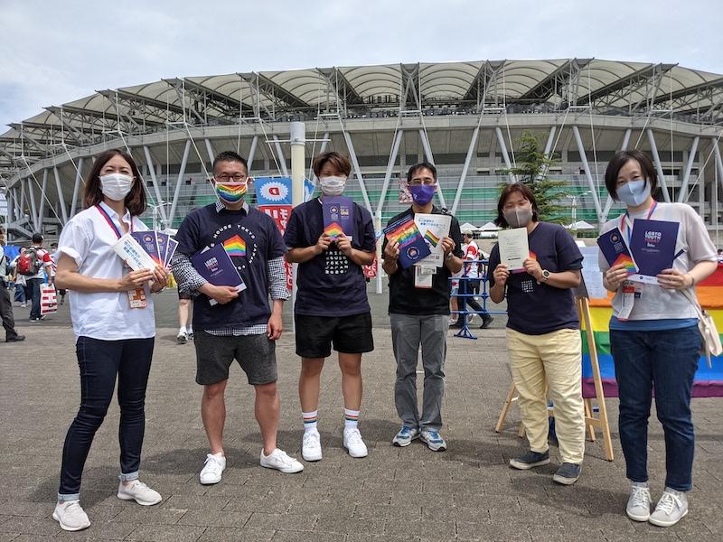 静岡県×プライドハウス東京×村上愛梨。ラグビー日本代表戦で見た、虹色の光景。