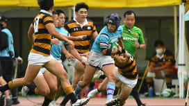 筑波大が慶大を3年連続で破る。ブレイクダウンを制して34-12で勝利。