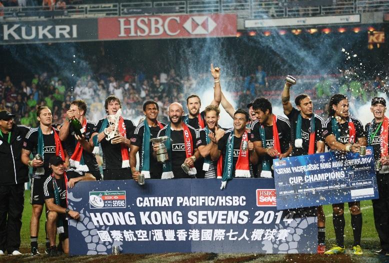 3年ぶりに香港セブンズを制したNZ。ワールドシリーズ4季連続優勝へ前進(撮影:松本かおり)