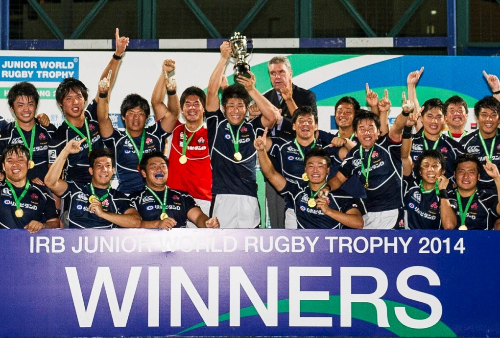 JWRTで初優勝したU20日本代表(Photo: Power Sport Images/HKRFU)