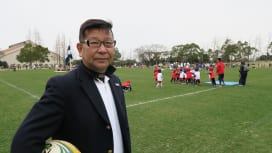 保育園児にラグビーのよさを伝える 社会福祉法人あじさい会理事長、池上勝義