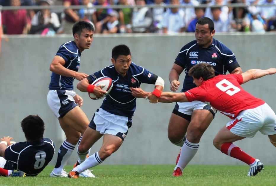 SH田中史朗(中央)が日本代表復帰。大阪でウエールズ代表を苦しめたが歴史的勝利ならず(撮影:BBM)