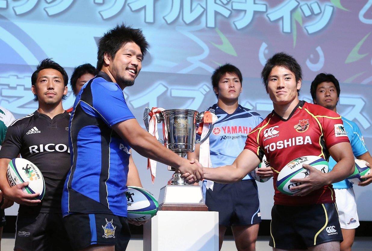 今季トップリーグ開幕戦で激突するパナソニックと東芝の主将(撮影:TAKASHI TAKASHIO)