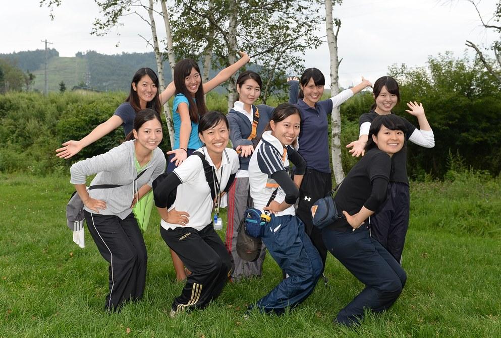 菅平で合宿中の青学大。マネージャー&トレーナーもがんばってます(撮影:Hiroaki. UENO)
