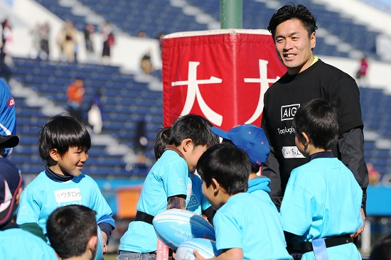 支援をさらに。AIGジャパン、大畑大介氏をラグビーアンバサダーに任命。