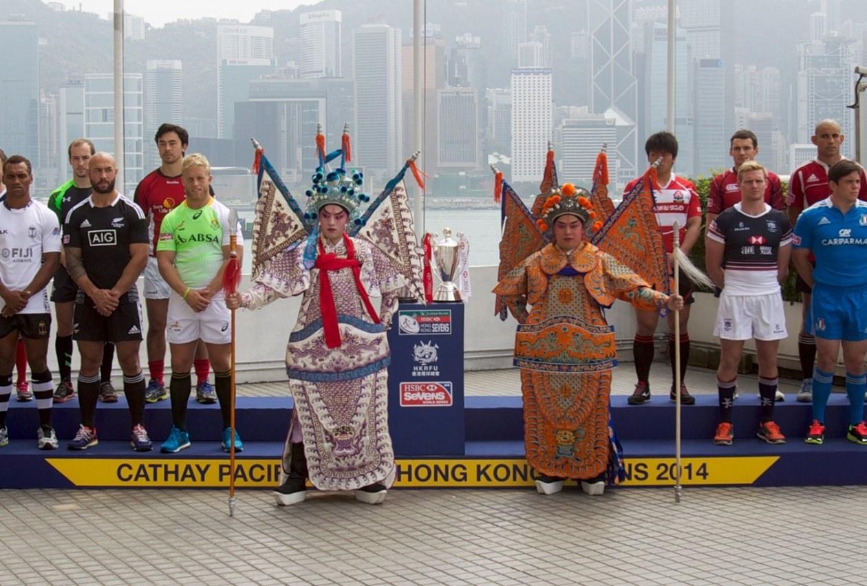 決戦前の主将たち。香港セブンズが始まる(Photo: IRB/Martin Seras Lima)