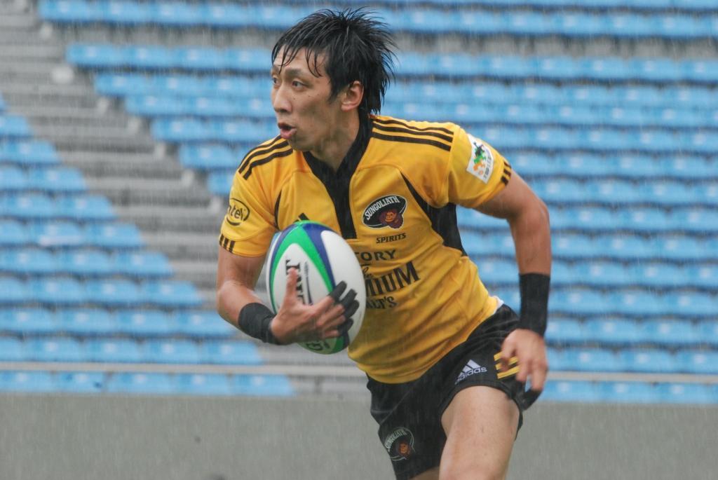 7人制日本代表として2011セブンズWSでも活躍したサントリー成田秀悦(セブンズフェスティバルより)
