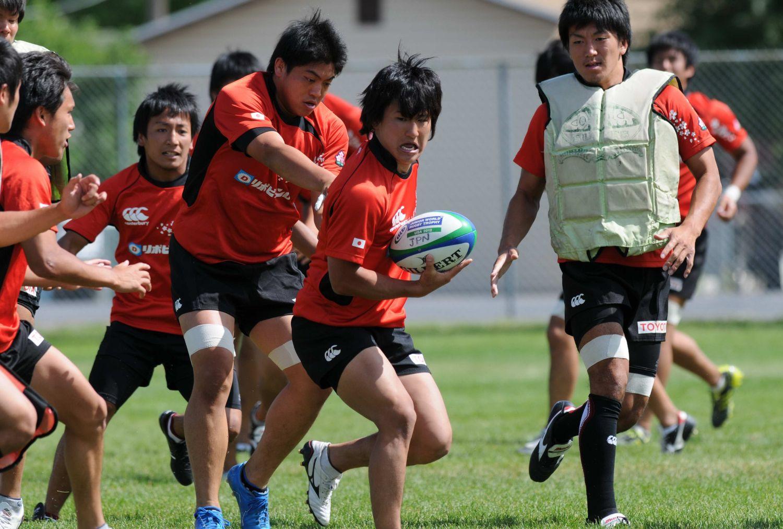 JWRT決勝前練習。U20日本代表はアタック、ディフェンスの連係確認。準備は整った(撮影:直江光信)