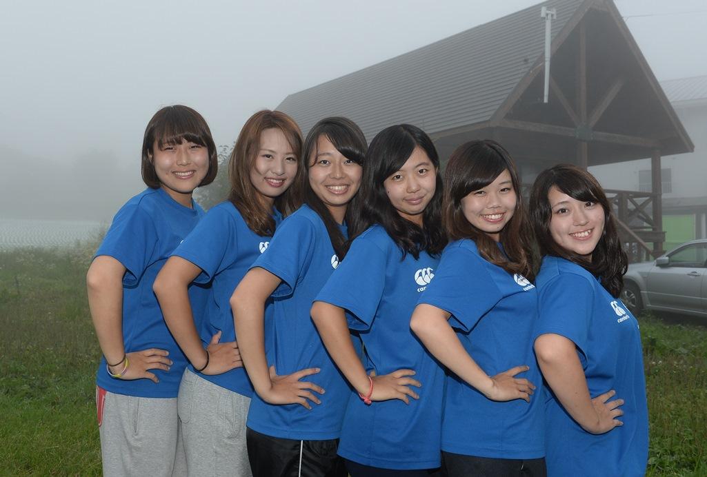 国際基督教大学(ICU)ラグビー部の女子マネージャーたち(撮影:Hiroaki. UENO)