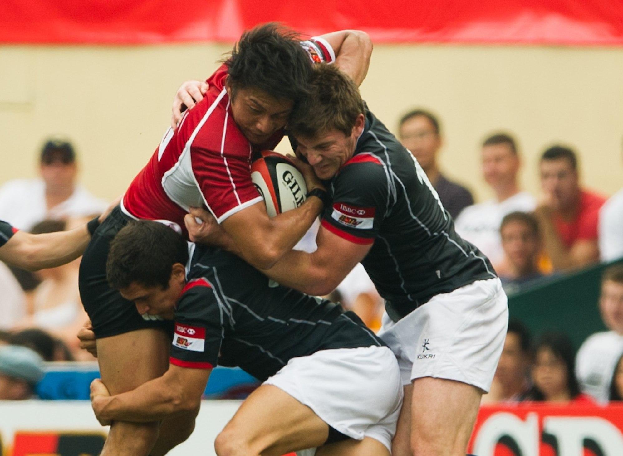 アジア5カ国対抗で香港相手に苦戦した日本代表。W杯に向け良薬となった(写真提供:アジアラグビー協会)
