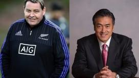 お、今回は王者の指揮官登場。「Connect Rugby to Business」プロジェクト第2弾