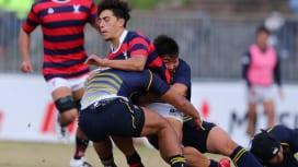 京都産業大は立命館大に19−24で敗れ今季関西大学リーグ初黒星(撮影:早浪章弘)