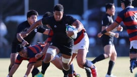 天理大は関西学院大を73−7と圧倒し、2018関西大学Aリーグで唯一5戦全勝(撮影:早浪…