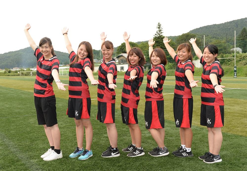 愛知学院大ラグビー部のマネージャーたち(撮影:Hiroaki. UENO)