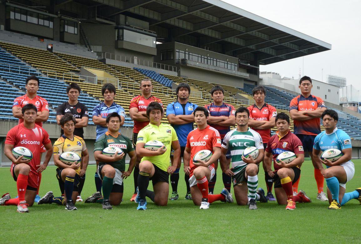 11季目のトップリーグがいよいよ開幕。意気込む全16チームの主将たち(撮影:松本かおり)