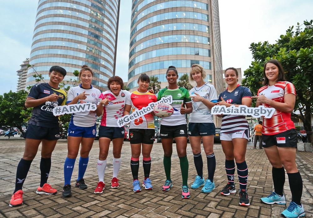 スリランカでW杯セブンズ2018アジア最終予選開催。女子代表の主将たち(C)Asia Rugby