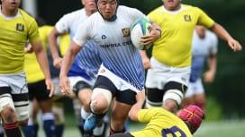上智大A(白青)と関西学院大Dの練習試合は75−12で上智大の勝利(C)Hiroaki.…