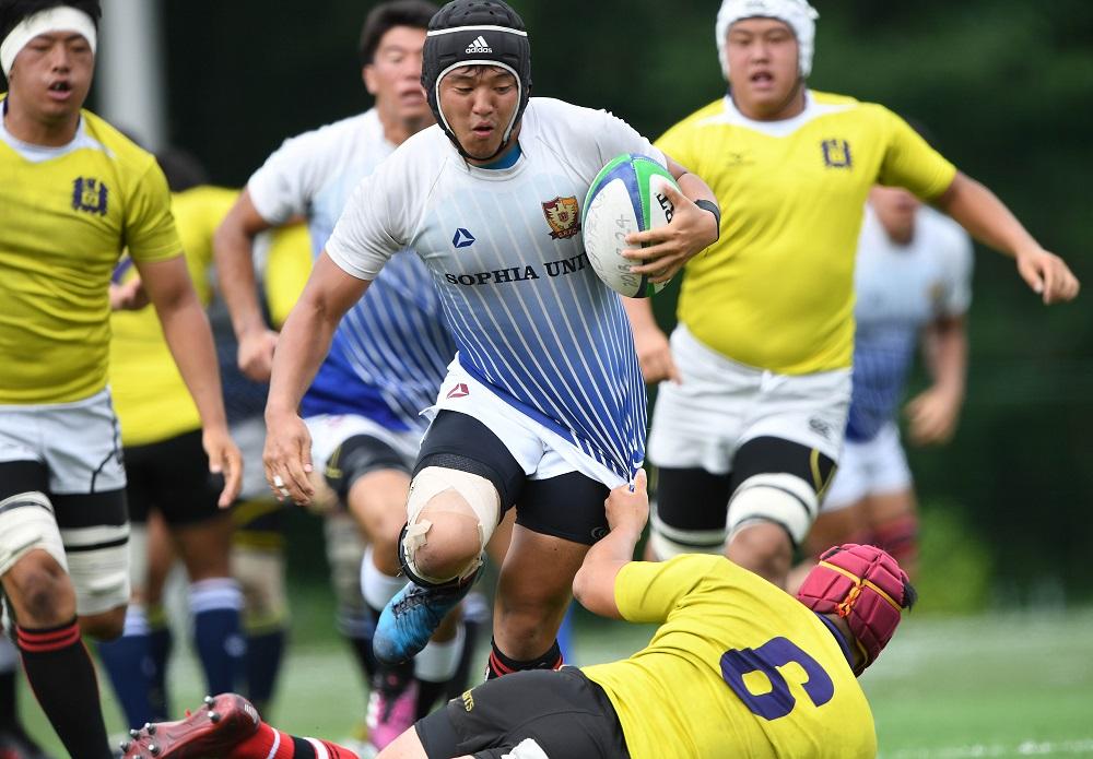 上智大A(白青)と関西学院大Dの練習試合は75−12で上智大の勝利(C)Hiroaki.UENO